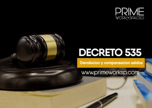 DECRETO 535 Devolución y compensación saldos